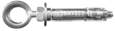 Schwerlast-Hakendübel mit Ringösenschraube