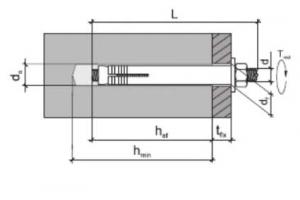50 Stk. Stahlankerbolzen, Betondübel 10 x 60mm