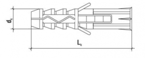 100 Stk. Multizweck Qualitätsdübel 8 x 50mm