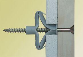 100 Stk. Universal-Qualitätsdübel  6 x 35mm mit Schraube 3,5 x 60mm