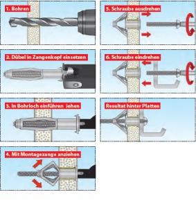 1 Stk. TOX-Profi-Montagezange für Metall-Hohlraumdübel