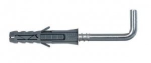 10 Stk. Multizweck Qualitätsdübel 6 x 30mm mit Haken