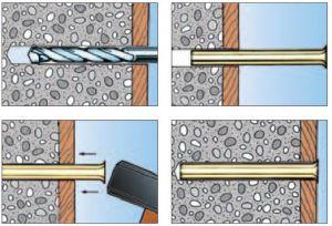 50 Stk. Fix-Anker/ Blitzdübel 8 x 70mm