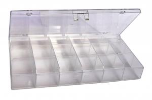 Sortimentskasten klein mit 18 Fächern