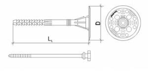 100 Stk. Dämmstoffhalter Type H-ST 10 x 140 mm