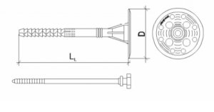 100 Stk. Dämmstoffhalter Type H-ST 10 x 300 mm
