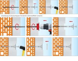 100 Stk. Dämmstoffhalter Type H-ST 10 x 200 mm