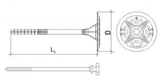 200 Stk. Dämmstoffhalter Type V-ST 8 x 100mm