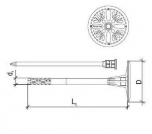 200 Stk. Dämmstoffhalter V-STS 10 x 90mm
