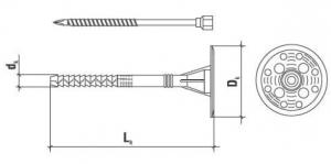 100 Stk. Dämmstoffhalter  Type H-STS 10 x 260 mm