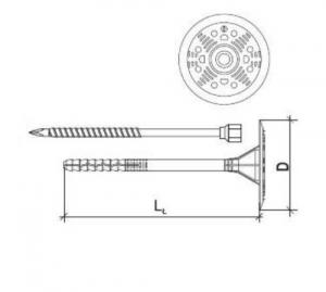 100 Stk. Dämmstoffhalter  Type V-STS 8 x 140 mm