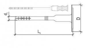 100 Stk. Dämmstoffhalter WKTHERM 8 x 155mm