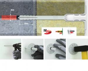 100 Stk. Dämmstoffhalter WKTHERM 8 x 215mm