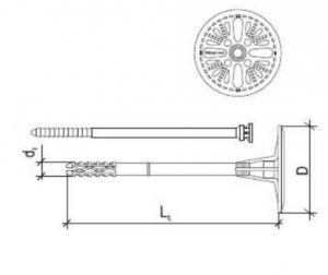 100 Stk. Dämmstoffhalter VH-ST 8 x 155mm