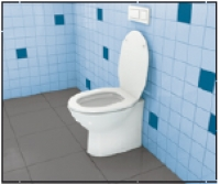 1 x TOX Stand-WC-Befestigung TOILET