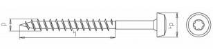 100 Stk. Universalschrauben m. Pan-Head  6.0 x 70mm