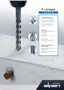 1 Stk. Hammerbohrer F8 SDS-PLUS 8 x 310/250mm 4-Schneiden