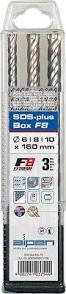 3-teiliges Set F8 SDS-PLUS plus mit 4 Schneiden