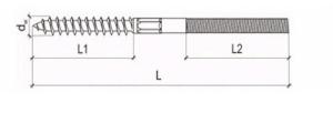 50 Stk. Dämmstoffdübel 95mm mit Stockschrauben 10 x 80mm