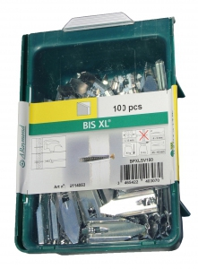 100 Stk. Gipskartondübel Metall BIS XL mit Schraube