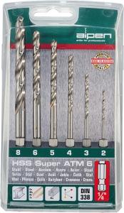 6-teiliges Set Universal-Metallbohrer HSS Super 1/4