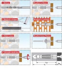 250 Stk. Allzweckdübel DECO 10 x 66mm (Gewerbepackung)