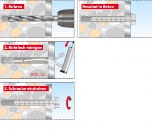 5 Stk. Betonschrauben Sumo Pro 1 KB 10 x 75mm