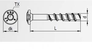 100 Stk. Betonschrauben mit Linsenkopf RBS 6 x 50mm