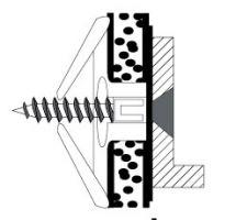 10 Stk. Spreizdübel/ Hohlraumdübel 16mm m. Schraube