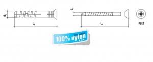 100 Stk. Nageldübel SMN mit Senkkopf 6 x 40mm
