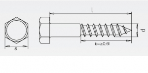 200 Stk. Sechskant-Holzschrauben  6 x 60mm