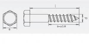 50 Stk. Sechskant-Holzschrauben  6 x 60mm