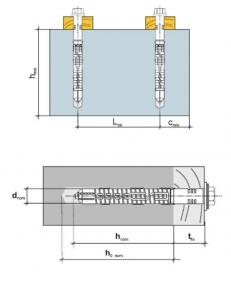5 Stk. Rahmendübel m. Sechskantkopfschraube KPR-FAST 14 x 120