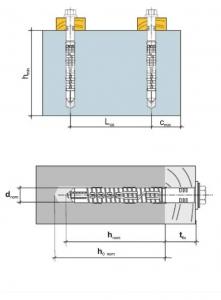 2 Stk. Rahmendübel m. Sechskantkopfschraube KPR-FAST 14 x 330mm