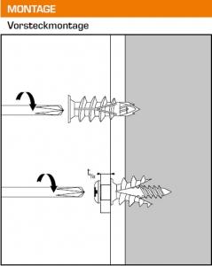 100 Stk. Gipskartondübel DRIVA CLICK mit Flachkopfschrauben