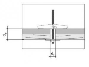 10 Stk. Federklappdübel M5 x 75mm