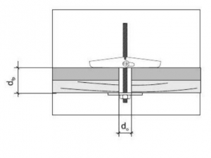 10 Stk. Federklappdübel M4 x 75mm