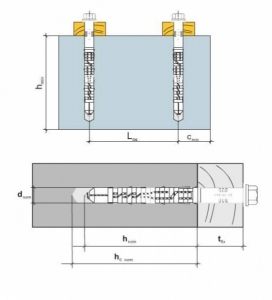 50 Stk. Rahmendübel mit Sechskantschraube KPS-FAST K Edelstahl A4 8 x 140mm