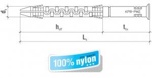 100 Stk. Rahmendübel 8 x 65mm