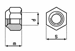 10 Stk. Sicherungsmuttern M10 verzinkt