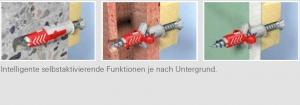 10 Stk. Fischer Duopower 10 x 80mm m. Sechskantschrauben