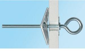10 Stk. Federklappdübel M5 x 75mm mit Ösenhaken