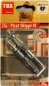 2 Stk. Metall-Hohlraumdübel M5 x 52mm mit Winkelhaken