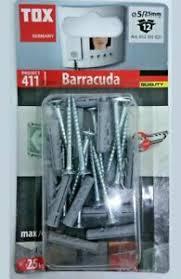 12 Stk. Spreizdübel Barracuda 5 x 25mm mit Schrauben