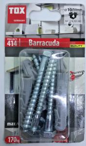 4 Stk. Spreizdübel Barracuda 10 x 50mm mit Schrauben