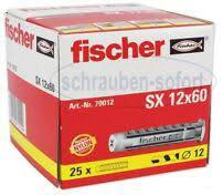 25 Stk. Fischer Spreizdübel SX 12 x 60