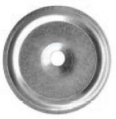 100 Stk. Metall-Dämmstoffscheiben mit WD 50 mm Durchmesser