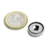 1 Stk. Topfmagnet mit Senkbohrung Ø 16 mm