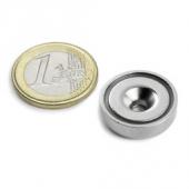1 Stk. Topfmagnet mit Senkbohrung Ø 20 mm