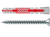 25 Stk. Fischer Duopower 8 x 65 mm m. Senkkopfschrauben